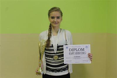 Kolodits Reni, az Országos Sakkbajnokság 2. helyezettje