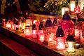 Szenci temető Mindenszentek  ünnepén